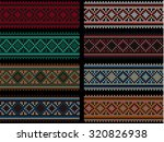 embroidered colorful cross... | Shutterstock .eps vector #320826938