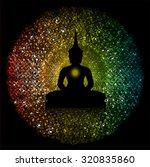 black buddha silhouette against ... | Shutterstock .eps vector #320835860
