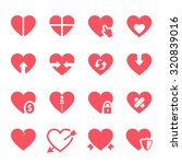 vector hearts icons set | Shutterstock .eps vector #320839016