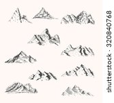 set of mountain and rock... | Shutterstock .eps vector #320840768