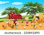 Children Feeding Animals In Th...