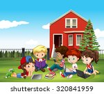 internatinal children studying... | Shutterstock .eps vector #320841959