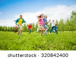 children are running through... | Shutterstock . vector #320842400