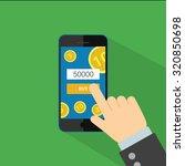 phone in hand for buy  vector...   Shutterstock .eps vector #320850698