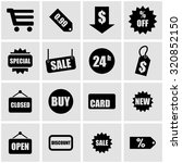 vector black shopping icon set.  | Shutterstock .eps vector #320852150