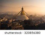 Boudhanath In Nepal Morning...