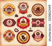 set 5 of vector vintage various ... | Shutterstock .eps vector #320862449