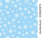 Pattern With Snowflakes On Blu...