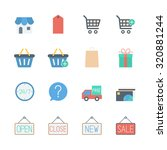 shopping icons set | Shutterstock .eps vector #320881244