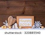golden christmas decoration on...   Shutterstock . vector #320885540