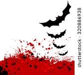 halloween background. flying... | Shutterstock .eps vector #320886938