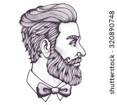 hand drawn portrait of bearded... | Shutterstock .eps vector #320890748