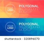 horizontal  polygonal banners | Shutterstock .eps vector #320896070