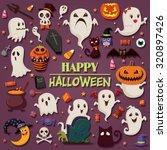 vintage halloween poster design ...   Shutterstock .eps vector #320897426