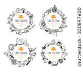 set of frames  doodle style .... | Shutterstock .eps vector #320897600