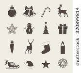 christmas icons with christmas... | Shutterstock .eps vector #320899814
