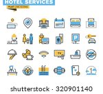 flat line icons set of major... | Shutterstock .eps vector #320901140