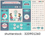 business infographic template...   Shutterstock .eps vector #320901260