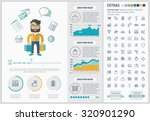 shopping infographic template... | Shutterstock .eps vector #320901290