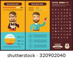 healthy food infographic... | Shutterstock .eps vector #320902040