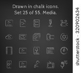 media icon set hand drawn in... | Shutterstock .eps vector #320902634