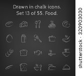 food icon set hand drawn in... | Shutterstock .eps vector #320903030