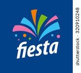 abstract vector logo fireworks... | Shutterstock .eps vector #320910248