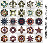 beautiful mandala set. round...   Shutterstock .eps vector #320912984