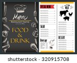 food and drink menu design... | Shutterstock .eps vector #320915708
