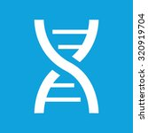 dna icon  simple white image...