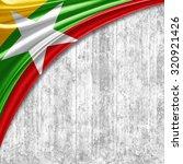 burma flag  of  silk with...   Shutterstock . vector #320921426