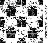 gift box pattern  grunge  black ...