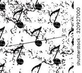 eighth note pattern  grunge ...