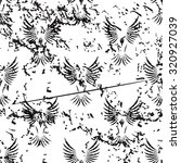 flying bird pattern  grunge ...
