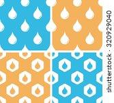 water drop pattern set  simple...
