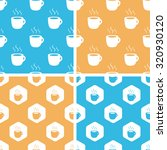 hot drink pattern set  simple...