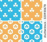 clover pattern set  simple and...