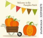 Cute Pumpkin Patch Card With...