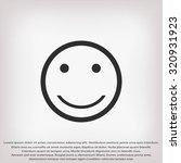 smiles icon | Shutterstock .eps vector #320931923