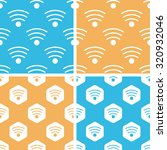 wi fi pattern set  simple and...