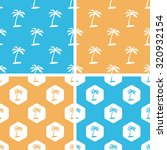 palm tree patterns set