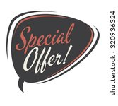 special offer retro speech... | Shutterstock .eps vector #320936324