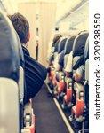 airport interior. businessman...   Shutterstock . vector #320938550