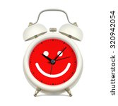 white alarm clock with red...   Shutterstock .eps vector #320942054