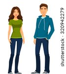 young people in casual clothes | Shutterstock .eps vector #320942279