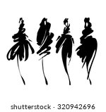 fashion models sketch hand... | Shutterstock .eps vector #320942696