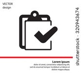 checklist icon  vector... | Shutterstock .eps vector #320943674