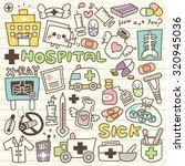 set of hospital doodle | Shutterstock .eps vector #320945036