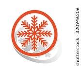 cold sign sticker  orange... | Shutterstock . vector #320946206
