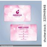 business card template. bokeh...   Shutterstock .eps vector #320949848